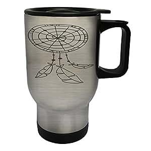 New Boho Design Art Vintage Stainless Steel Thermo Travel Mug 14oz m140ts