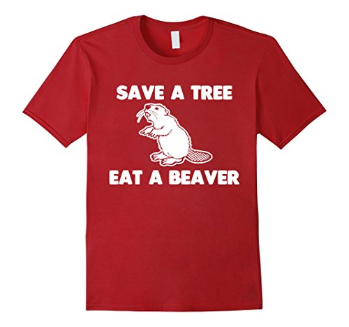 Men's Beaver T-Shirt funny saying sarcastic offensive novelty rude 2XL (Beaver Funny T-shirt)