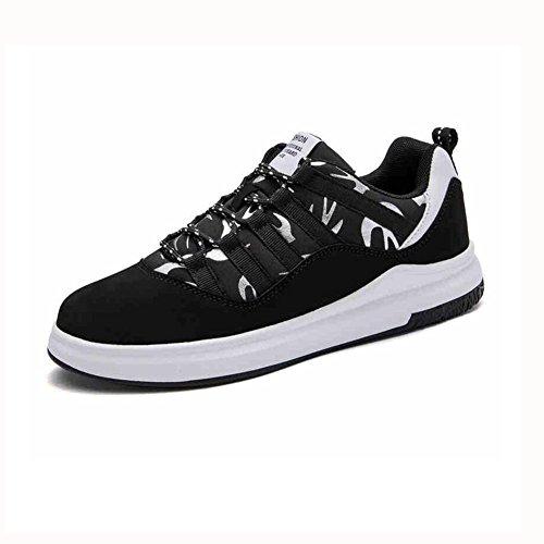 Zapatos YIXINY Deporte Salvaje Zapatillas De Deporte Transpirable Zapatillas De Correr Ocio Aumentar Placas Lienzo (Color : Negro, Tamaño : EU40/UK7/CN41) Negro