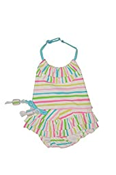 Kate Mack Baby-Girl\'s Infant Salt Water Taffy Swimsuit - Size 3M, Aqua