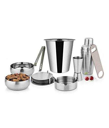 Stainless Steel Plain Bar Set - Pack of 14 Pieces