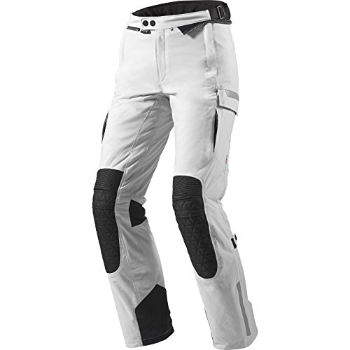 FPT064 - 4053-L40 - Rev It Sand Ladies Motorcycle Trousers Lady 40 Silver-Black Long (UK 12)