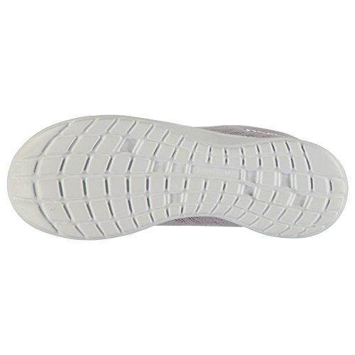 Reebok Mujer Walk Devine Zapatillas Cordones Acolchado Tobillo Deporte Zapatos Gris/Wht/Rosa