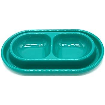 Dog Bowls, Pet Bowls, Cat Bowls - 1.8 Cup - Feeding Bowls, Double Bowls, Food Bowls or Water Bowls - With You6688 - Colors May Vary - Small