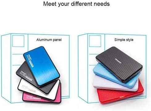 Support Thickness Color : White EB-2506U3 SATA USB 3.0 Interface Aluminum Panel HDD Enclosure for Laptops 7.0-12.5mm