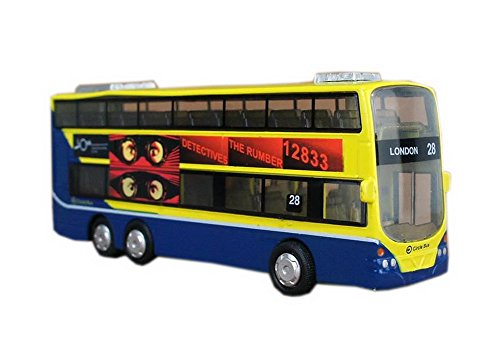 London 28 City Bus Model Mini Double-decker Bus Toy for Boys 6.3'' (Greyhound Bus Model compare prices)