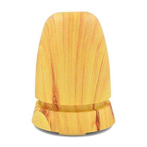 Fenteer 350ml Ultrasonic LED Air Humidifier Mist Maker Essential Oil Diffuser US Plug - Light Wood Grain by Fenteer
