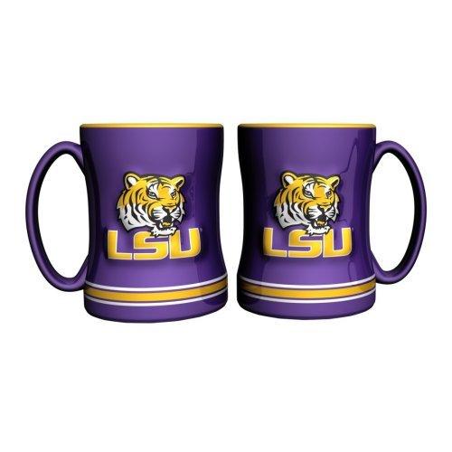 - NCAA Louisiana State - Relief Coffee Mug (2) | LSU Tigers 14 oz. Ceramic Coffee Cup - Set of 2