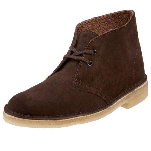 Clarks Desert bota del tobillo Chocolate Suede