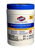 Clorox 30577 Healthcare Bleach Germicidal Wipe (150 Count)