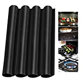 4 Pack Oven Liners Mats for Bottom of Electric Gas