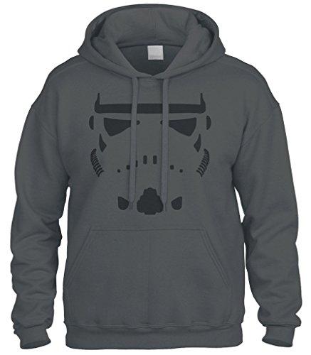 Cybertela Storm Trooper Stormtrooper Sweatshirt Hoodie Hoody (Charcoal, 2X-Large)]()