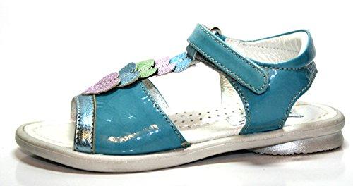 Cherie enfant chaussures sandales pour fille bleu 790 (bleu/vert/rose-taille 25 (sans emballage)