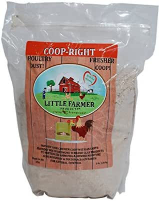 LITTLE FARMER PRODUCTS Coop-Right Chicken Coop Natural Poultry Dust Bath Nest Freshener Odor Eliminator | Redmond Clay, Diatomaceous Earth, Rosemary | 3 lb