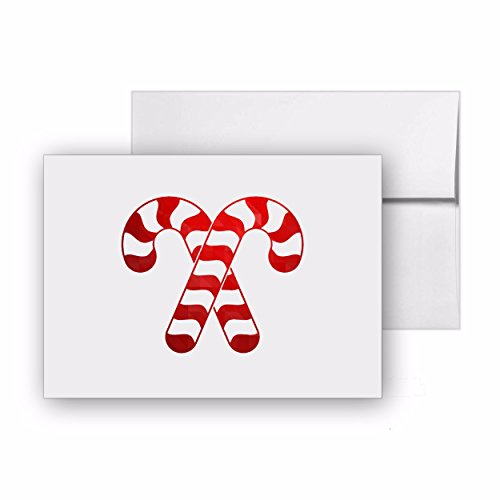 Candy Canes Cane Sweet Christmas, Blank Card Invitation Pack, 15 cards at 4x6, with White Envelopes, Item 677546 (Cane Blank)