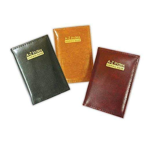 The Home Fusion Company Burgundy Pocket Size A Z Index Leather Cover Executive Padded Address Book