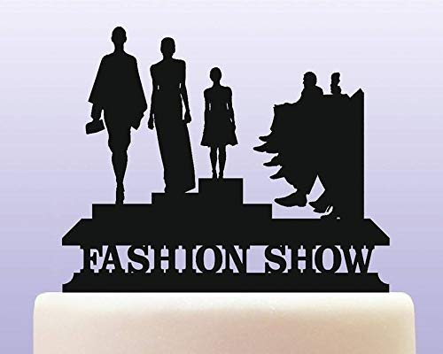 Personalised Acrylic Fashion Show and Designer Catwalk Model Collection Cake Topper Keepsake Gift ()