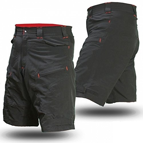 Urban Cycling Apparel Youth Single Tracker - Kids Mountain Bike Cargo Shorts With Secure Pockets, Baggy Fit, and Dry-Fast Wicking With Premium Antibacterial G-TEX Padded Undershorts (Youth Size - Bike Apparel