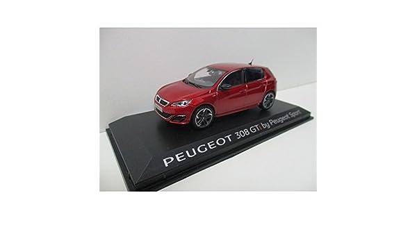 PEUGEOT 308 GTI BY PEUGEOT SPORT 1/43 2015 ROJO ULTIMATE: Amazon ...