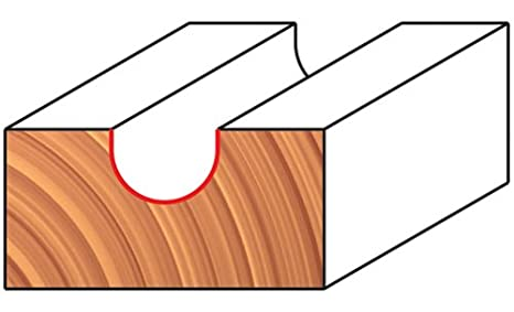 Freud 18-113 1-Inch Diameter Round Nose Router Bit with 1//4-Inch Shank
