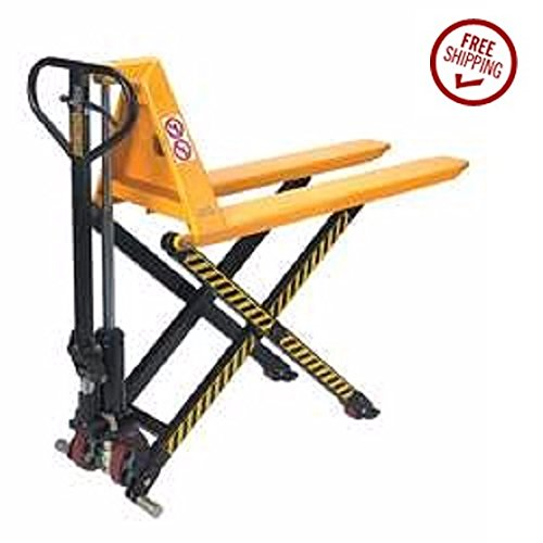 2200 lb Wesco Industrial Products 272460 Non-Telescoping Electric High-Lift Pallet Truck 60 Length x 21 Width x 48-1//2 Height Load Capacity