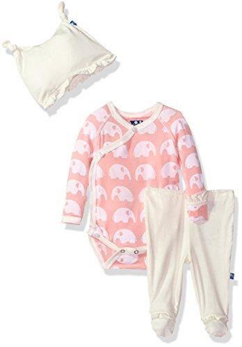 Kickee Pants Girls' Print Gift Set, Lotus Elephant, (Lotus Elephant)