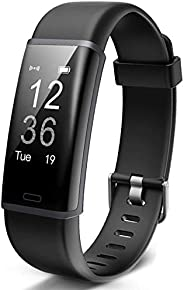 Lintelek Fitness Tracker Heart Rate Monitor, Activity Tracker, Pedometer Watch with Connected GPS, Waterproof