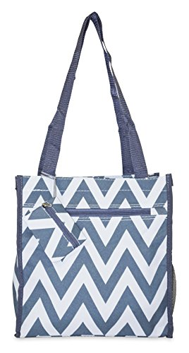Price comparison product image Ever Moda Chevron Tote Bag (Grey)