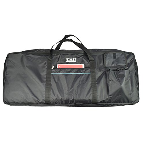"Find Discount Electric Piano Portable Padded Gig Bag/Case for 61 Key Keyboard with Extra Large Pockets, Made of Nylon, Color: Black, Size 40"" x16"" x 5"""