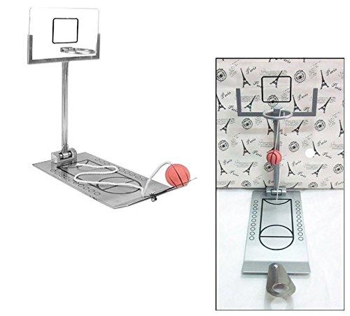Huihuger Lovely miniature en métal Desk Top pliable Jeu de basket enfant Cadeau d'anniversaire