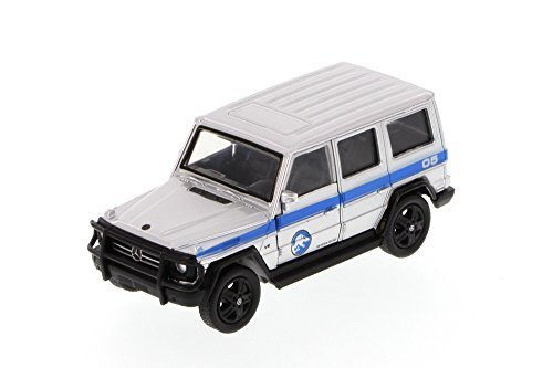 Jurassic World Mercedes-Benz G550 4x4, Candy Silver - JADA 97148 - 1/43 Scale Diecast Model Toy Car - Mercedes Benz 4 X 4