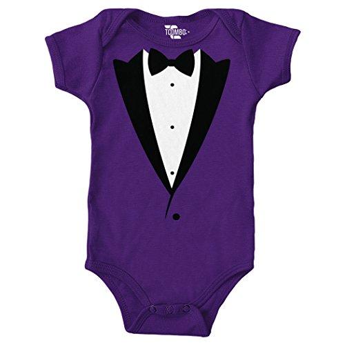 Tcombo Suit and Bow Tie Bodysuit (Purple, 12 Months)
