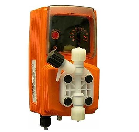 Bomba Dosificador Líquido (Cloro / PH + -) Volumétrica. 10 l/h a 3 bar: Amazon.es: Jardín