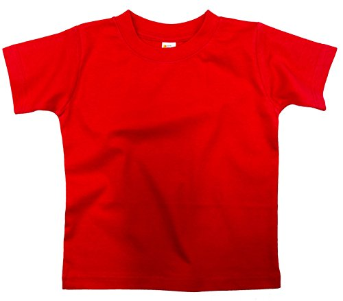 Earth Elements Little Girls' Short Sleeve T-Shirt 6T Red
