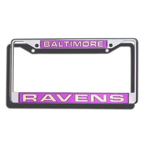 NFL Baltimore Ravens Laser-Cut Chrome Auto License Plate Frame