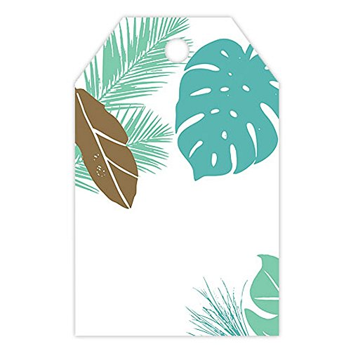 Tropical Paradise Printed Gloss Gift Tags - 2 1/4 x 3 1/2in. (50) ()