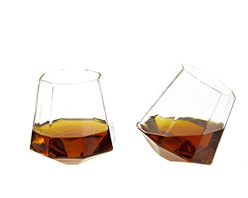 Diamond Whiskey Glasses - Rocks Glass for Rum, Tequila, for sale  Delivered anywhere in Canada