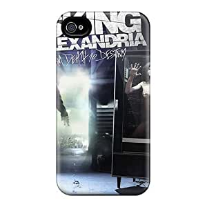 For Iphone Case, High Quality Asking Alexandria Band For Iphone 4/4s Cover Cases