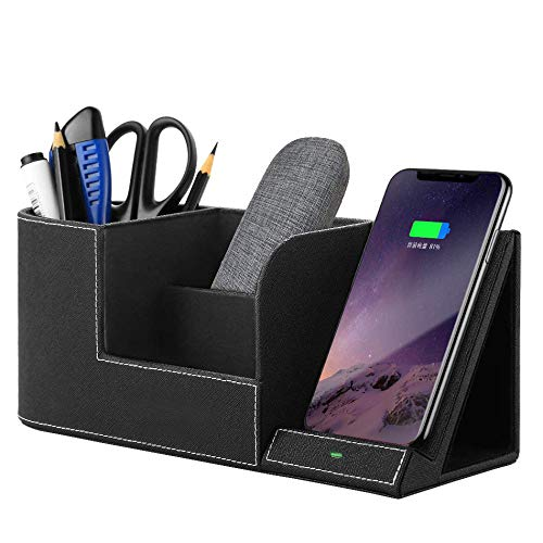 FDGAO Wireless Charger with Desk Organizer 10W Wireless Charging Stand for iPhone Samsung and Other QI-Enabled Devices, Multi-Function Pen Holder. from FDGAO
