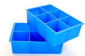 Carelove Premium Silicone Cube Ice Tray - Blue. Factory Direct sale