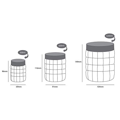 Cello Checkers Plastic Container Set, 18-Pieces, Blue 6