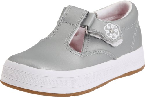 Toddler Clearance (Keds Daphne T-Strap Sneaker (Toddler/Little Kid),Silver,5.5 W US Toddler)