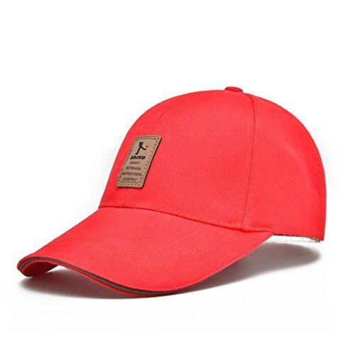 Xeno Unisex Men Women Sport Outdoor Baseball Cap Golf Snapback Hip Hop Hat Adjustable Red