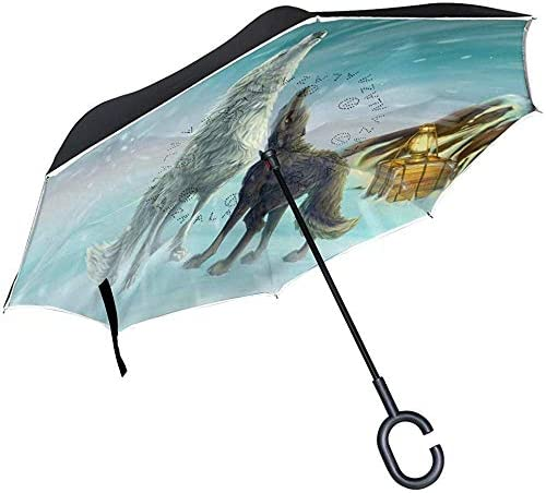 ETGeed Reverse Umbrella Summon Die Liebe des Wolfs Inverted Umbrella Reversible