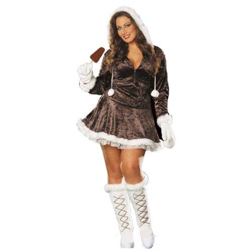 [Eskimo Cutie Costume - Plus Size 1X/2X - Dress Size 16-18] (Eskimo Cutie Costumes)