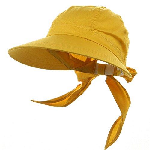 Mega Cap Lemon Yellow Wide Brim Peak Gardening Sun Hat