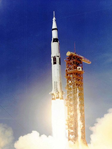 SPACE APOLLO 11 LAUNCH SATURN V ROCKET BLAST THRUST FLAME COOL USA POSTER (Cool Rockets)