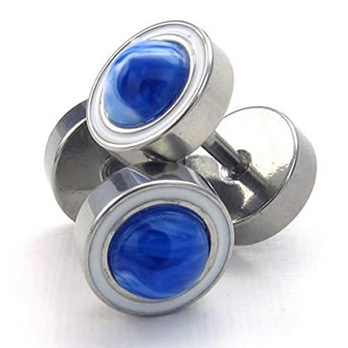 Stainless Steel Earrings , Women's Men's Stud Earrings Blue Silver Epinki (Hipster Hello Kitty Costume)