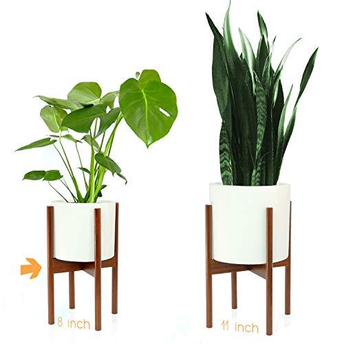 Fox & Fern Mid-Century Modern Plant Stand - Cherry - EXCLUDING 8