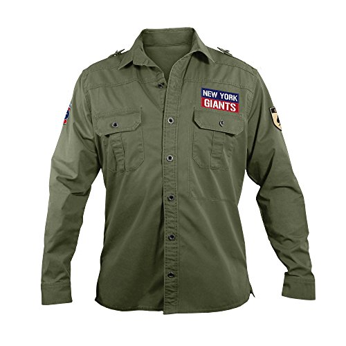 NFL New York Giants Men's Military Field Shirt, Large by Littlearth